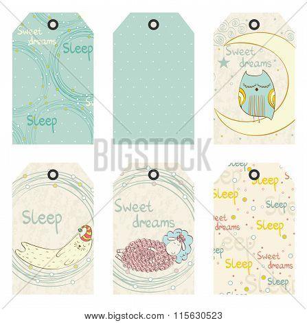Vector sleeping animals