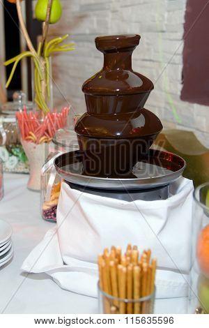 Chocolate fountain.