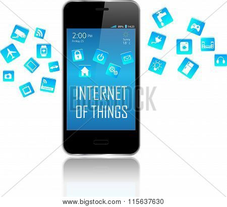 Smart Phone And Internet Of Things Concept