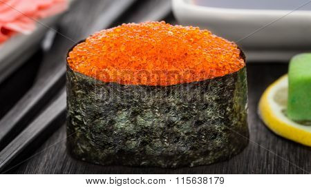 Gunkan with tobico caviar