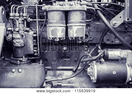 Background Of An Old Engine