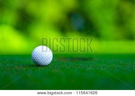 Golf ball on a lawn