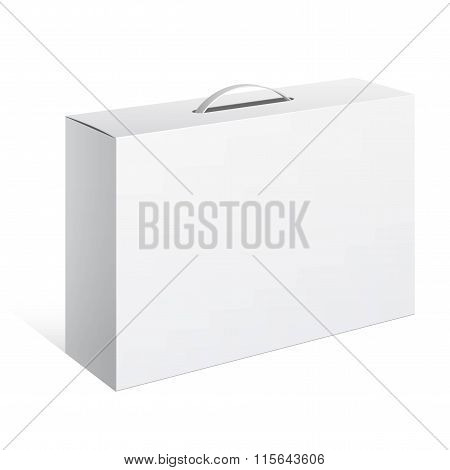 Package Cardboard Box With A Handle