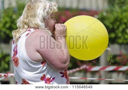 Blowing Up A Yellow Ballo