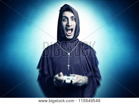 young friar playing