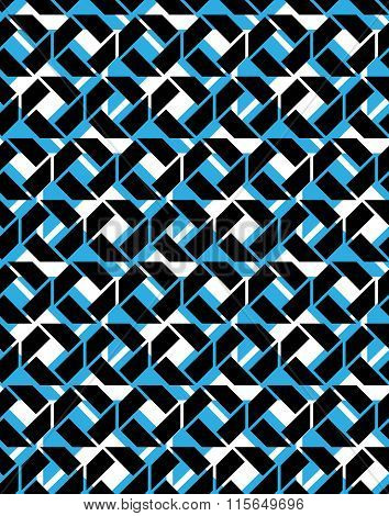 Seamless Ornament Pattern, Art Multilayered Infinite Geometric Textile, Abstract Vector