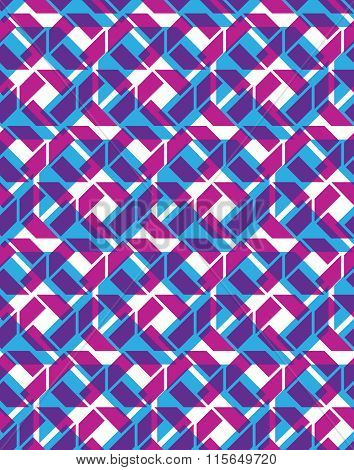 Seamless Ornament Pattern, purple Multilayered Infinite Geometric Textile, Abstract Vector Texture