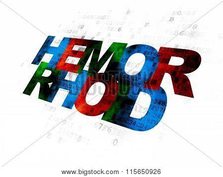 Healthcare concept: Hemorrhoid on Digital background