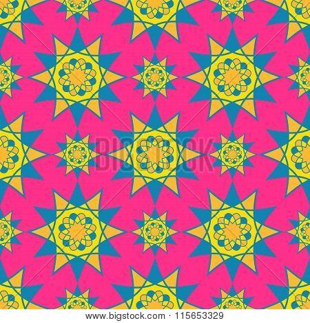 Bright mosaic spirograph vector background