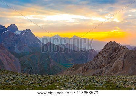 Eye catching highland dusk