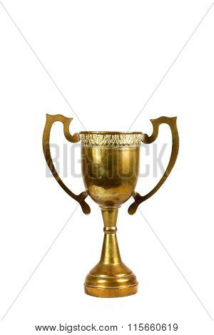 Vintage Trophy On The White Background.