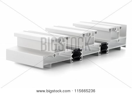 Aluminum profile accessory isolated on white background. poster