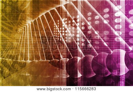 Medical Genetics or Genetic DNA Abstract Image poster