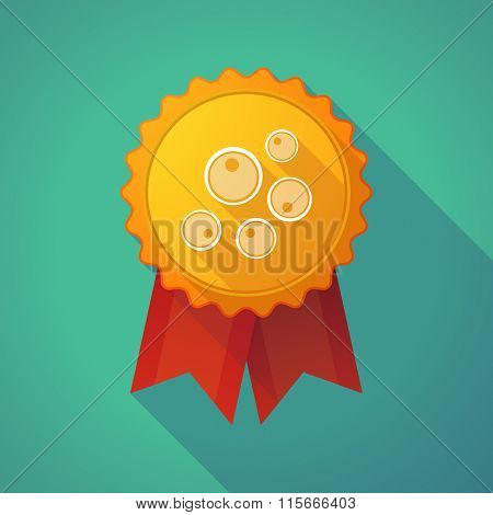 Long Shadow Badge Icon With Oocytes