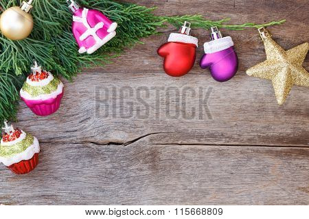 Christmas Background With Decoration Gift