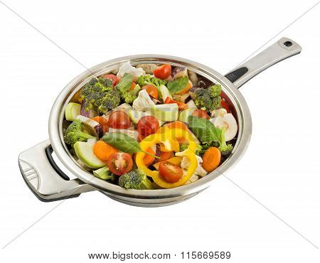 Vegetables In The Frying Pan