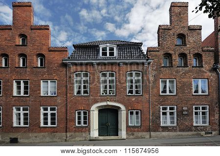 Facade Of Traditional Buildings, Lubeck, Germany