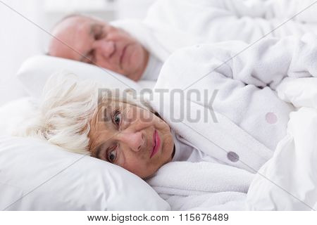 Senior Woman With Insomnia