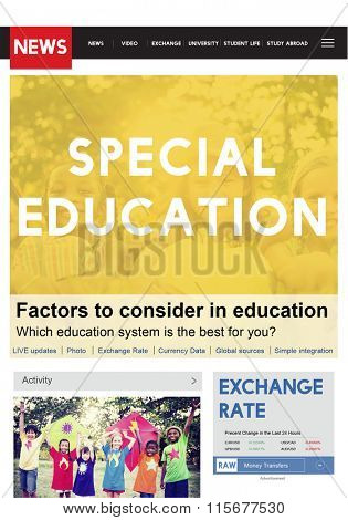 Special Education Studying School ADHD Behavior Concept