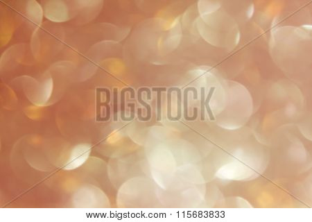 Wonderful Romantic Soft Pearl Orange Bokeh Background