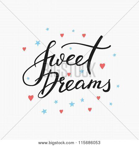 Sweet Dreams Lettering Typography