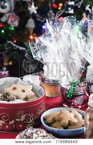 Christmas Cookies, Popcorn and Jellies