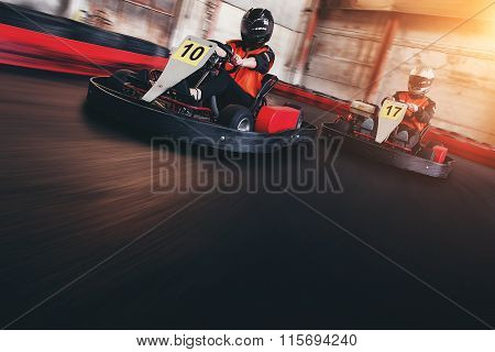 Go Kart Speed Ride Indor Race Opposition Race