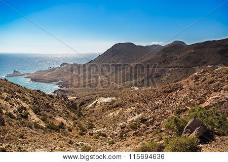 Cloudless Skies At Cabo Del Gato, Almeria, Spain
