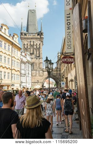 People Walking On Mala Strana District - Prague