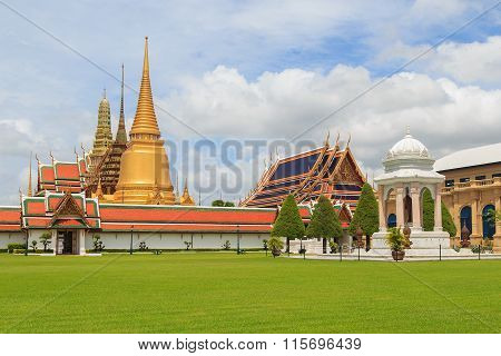 Temple Of The Emerald Buddha Or Wat Phra Kaew In Bangkok Thailand poster