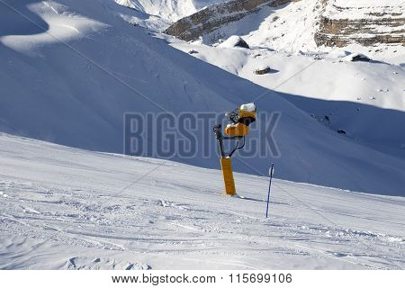 Ski Slope With Snowmaking