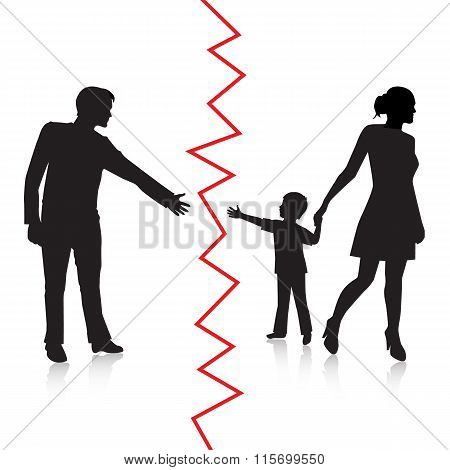 Divorce and separation of father and baby