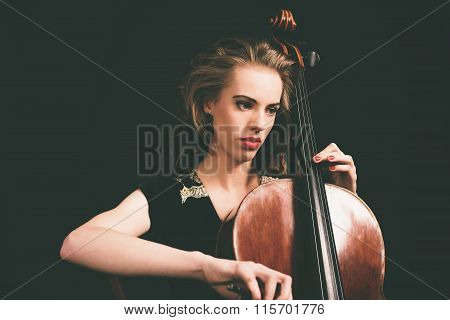 Pretty Young Female Musician