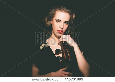 Gorgeous Young Cellist With Her Cello