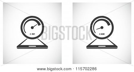 download speed icon with smartphone design