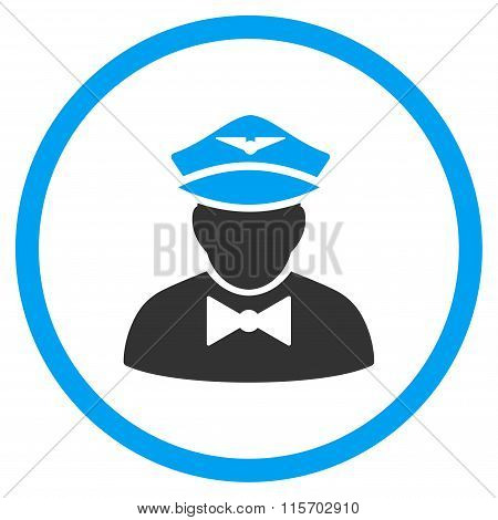 Airline Steward Rounded Icon