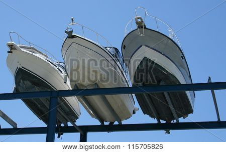 Boats on a Rack