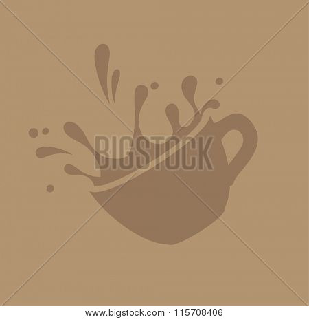coffee splashes vector