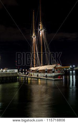 Sailboat At Night