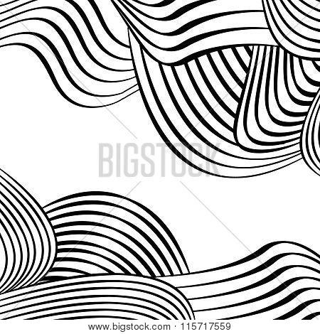 Black Wavey Design