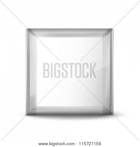 empty vector glass cube
