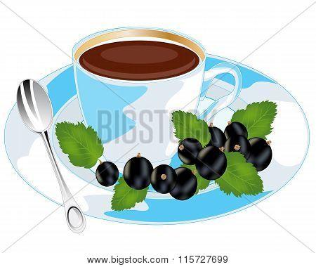 Tea with currant