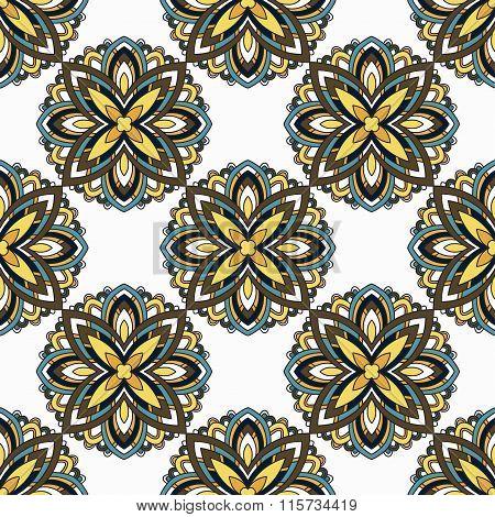 Lace Background. Beautiful Mandala. Vector Illustration.
