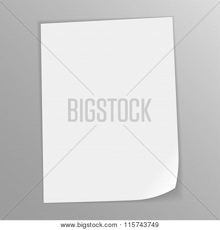 close up of a folded card on gray background with clipping path