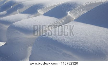Cars Under Deep Snow