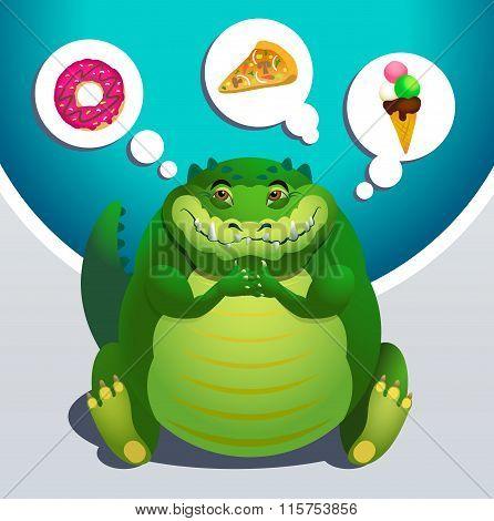 Fat crocodile