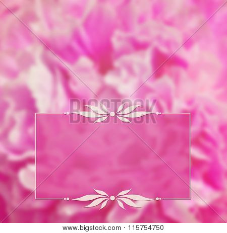 Pink Blurred Background And A Frame
