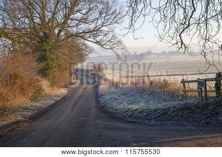 Cotswold Landscape In Winter