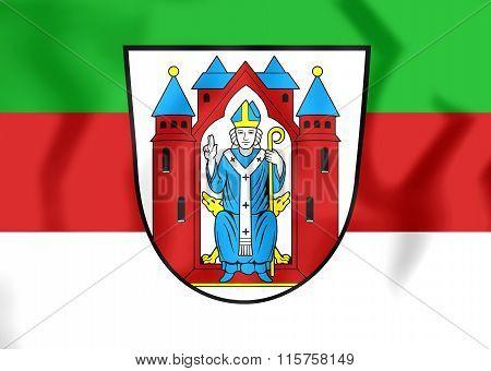 Flag Of Aschaffenburg (bavaria), Germany.