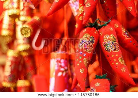 Chinese red pepper decorations